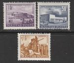 Венгрия 1953 год. Строительство, 3 марки (наклейка)