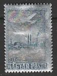 Венгрия 1955 год. Металлургический завод в Свере. Самолёт. 1 марка (наклейка)