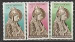 Ватикан 1955 год. 500 лет со дня смерти Папы Николая V, 3 марки (наклейка)