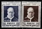 Ватикан 1959 год. Папа Пий XI, 2 марки (наклейка)