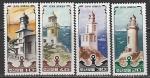 КНДР 1985 год. Маяки, 4 марки.  нар.