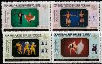 КНДР 1989 год. Танцевальные сцены, 4 марки