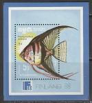 Кампучия (Камбоджа) 1988 год. Международная филвыставка в Хельсинки. Тропические рыбки, блок и 7 марок  (н