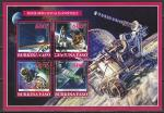 Буркина Фасо 2019 год. Космонавты и космические аппараты, гашёный малый лист