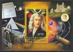 Кот дИвуар 2012 год. Английский физик и астроном Исаак Ньютон, гашёный блок