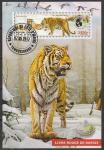 Кот дИвуар 2017 год. Амурский тигр, гашёный блок