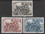 Ватикан 1964 год. 100 лет Международному Красному Кресту, 3 марки (гашёные)