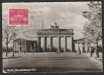 Картмаксимум ГДР. Берлин. Бранденбургские ворота, 29.11.1958 год, Берлин