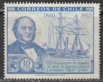 Чили 1966 год. Парусник. Уильям Уилрайт, 1 марка из серии