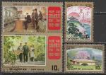 КНДР 1987 год. 75 лет со дня рождения Ким Ир Сена. Картины, 4 марки гашёные