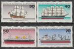 ФРГ 1977 год. Корабли, 4 марки