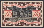 Нотгельд 75 пфеннингов. Германия 1921 год