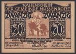 Нотгельд 20 пфеннингов. Германия 1920 год