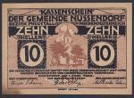 Нотгельд 10 пфеннингов. Германия 1920 год