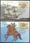 5 Картмаксимумов. Из истории отечественной почты, 25.08.1987 год, Москва, почтамт
