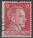Германия (Рейх) 1941 год. Рейхсканцлер А. Гитлер, стандарт (ном. 12 пф.), 1 марка (гашёная)