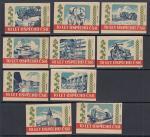 Набор иностранных спичечных этикеток, Чехословакия, 10 штук