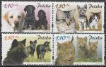 Польша 2002 год. Щенки и котята, 2 пары марок (281.3960)