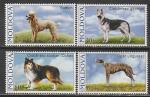 Молдова (Молдавия) 2006 год. Собаки, 4 марки (230.273)