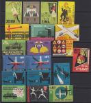 Набор иностранных спичечных этикеток. Польша, 19 штук