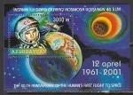 Азербайджан 2001 год. 40 лет космическому полёту Юрия Гагарина, блок (н