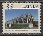 Латвия 2012 год. Железнодорожные мосты Балтии, 1 марка (н