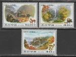 КНДР 2000 год. Флора и фауна гор, 3 марки (н