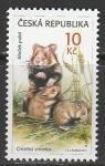 Чехия 2011 год. Полевые хомячки, 1 марка (н