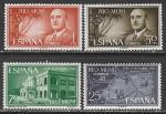 """Рио Муни (Испания) 1961 год. XXV годовщина """"Национального подъёма в Испании"""", 4 марки (н"""