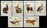 Польша 1986 год. Охотничья фауна. 6 марок (н