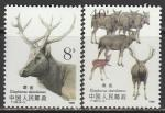 Китай 1988 год. Олени, 2 марки (н