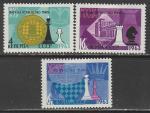 СССР 1963 год. XXV первенство мира по шахматам в Москве, 3 марки