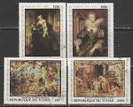 Чад 1978 год. Картины Рубенса, 4 марки (гашёные)
