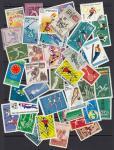 Набор иностранных марок, спорт, 40 гашеных марок