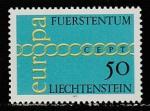 Лихтенштейн 1971 год. Европа СЕРТ, 1 марка