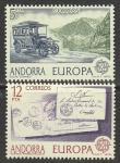 Андорра (Исп. почта) 1979 год. История почтовой и телекоммуникационной связи, 2 марки