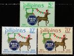 """Филиппины 1971 год. Эмблема турбизнеса """"РАТА"""", 3 марки"""