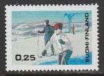Финляндия 1968 год. Зимний туризм в Финляндии, 1 марка