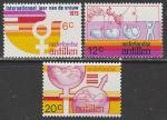 Нидерландские Антильские острова 1975 год. Международный год женщины, 3 марки