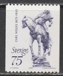 Швеция 1975 год. 100 лет со дня рождения скульптора Карла Миллеса, 1 марка