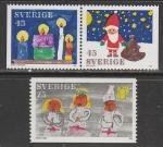 Швеция 1972 год. Рождество, 1 марка + пара