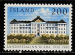 Исландия 1980 год. 50 лет Краевой больнице, 1 марка