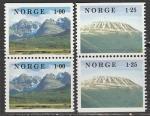 Норвегия 1978 год. Ландшафты, 2 пары марок