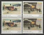 Норвегия 1983 год. Рождество, 2 пары марок
