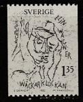 Швеция 1982 год. 100 лет со дня рождения писательницы Элин Вагнер, 1 марка
