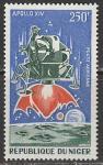 "Нигер 1971 год. Третья пилотируемая высадка на Луну. ""Аполлон-14"", 1 марка"