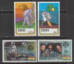 Гана 1970 год. Год со дня первого полёта человека на Луну, 4 марки