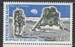 Мадагаскар 1970 год. Год со дня первой пилотируемой посадки на Луну, 1 марка