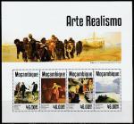 Мозамбик 2014 год. Реализм в изобразительном искусстве, малый лист