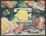 Гвинея 1997 год. Тропические рыбки, блок